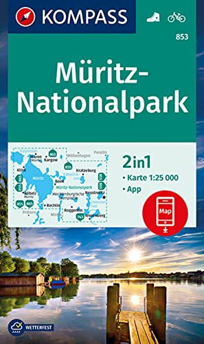 Müritz-Nationalpark: 2in1 Wanderkarte